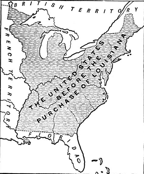 united states map louisiana purchase the united states before the louisiana purchase