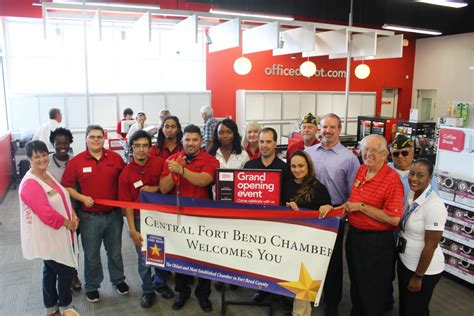 Office Depot Gonzales Central Fort Bend Chamber Celebrates The Grand Opening Of