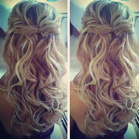 half up half down curly hairstyles with braids braid half up half down hair styles pinterest