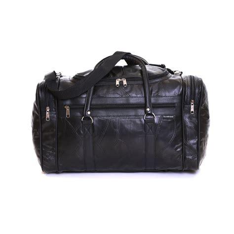 real leather travel weekender cabin luggage handbag