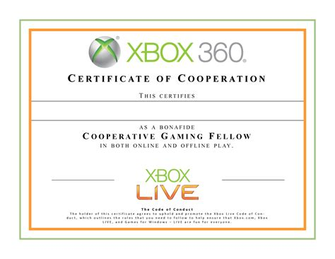 cool certificate templates xbox co op certificate for the bro and brodette who s