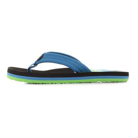 reef comfort flip flops kids girls boys reef ahi aqua blue striped green comfort
