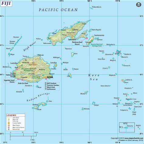 map world fiji map throughout fiji world roundtripticket me
