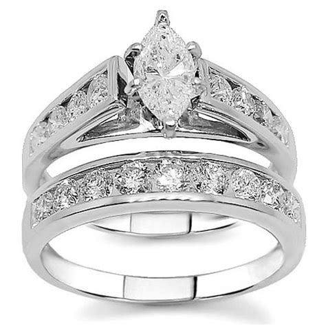 Design Wedding Ring Set by Design Wedding Rings Engagement Rings Gallery Marquise