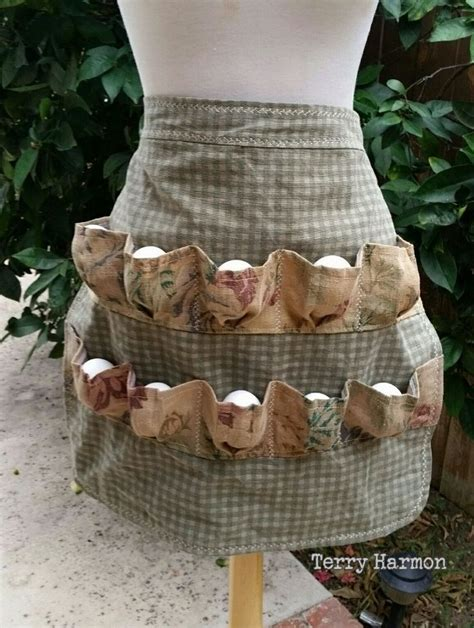 pattern egg gathering apron egg collecting apron egg gathering apron shabby