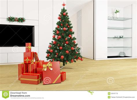 christmas tree in living room living room with christmas tree stock photos image 33197773