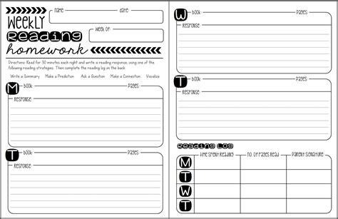 homework reading log template get homework help from homework hotline clark county