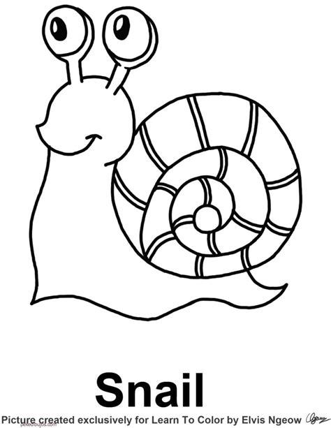 imagenes infantiles grandes dibujos de caracoles para colorear