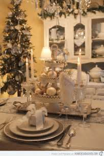 Black And Silver Chandelier 20 Christmas Table Setting Design Ideas Home Design Lover