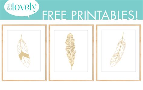 diy printable home decor freebies gold feather prints feather decor ideas oh