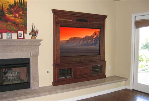 crafted built in fireplace entertainment center by