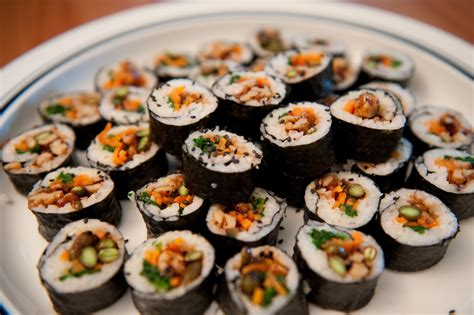 kimbap dinner with weijia