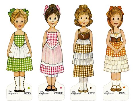 printable paper dolls the ginghams paper dolls coloring books great fun i