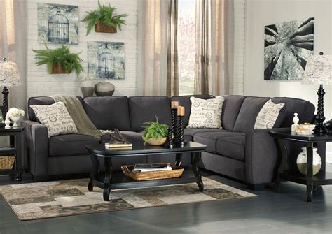 ashley alenya sofa review furniture plus alenya charcoal extended sectional