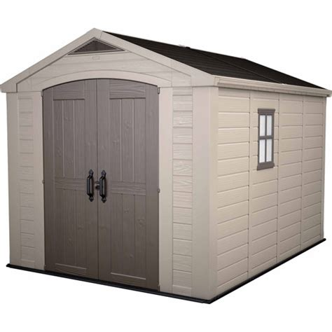 keter factor 8 x 11 storage shed taupe walmart