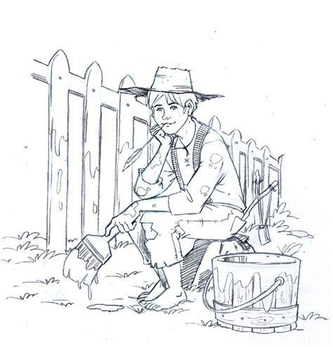 free draw how to draw tom sawyer