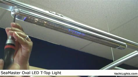 oval led boat lights seamaster oval t top led light by yachtlights youtube
