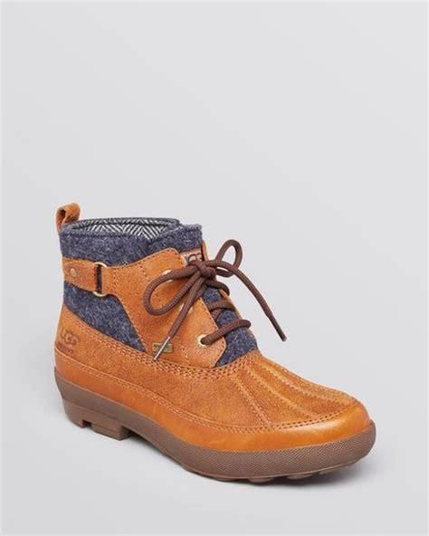 ugg duck boots adirondack tweed in brown chestnut lyst