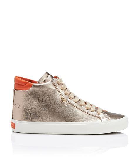 burch sneaker burch caleb high top sneaker in metallic lyst