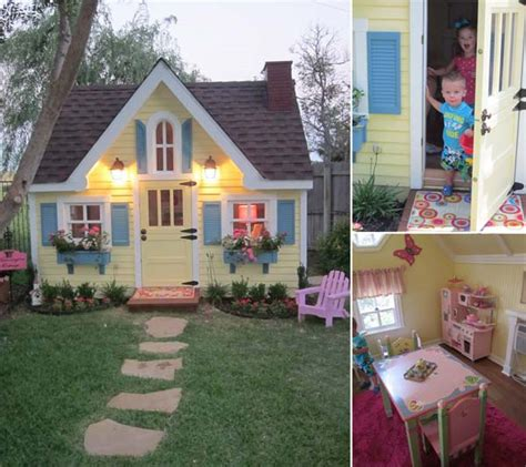 fabulous backyard playhouses   delight  kids