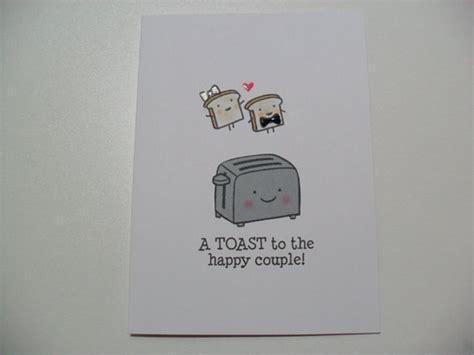 Shower Puns by Engagement Wedding Card Wedding Shower Card Toaster Pun