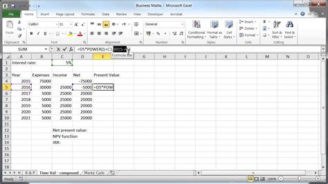 Time Value Of Money Excel Spreadsheet time value of money npv irr and excel