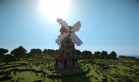 Windmill - Elysius Farm Minecraft Project Minecraft Windmill Farm