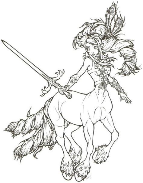 centaur girl coloring page 27 best kleuren voor volwassenen images on pinterest