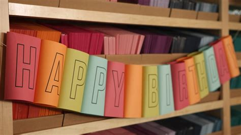 How To Make Paper Banners - how to make a rolled birthday banner kin diy