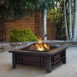 Patio Wood Burning Fireplace by Real Flame Morrison Outdoor Wood Burning Fireplace
