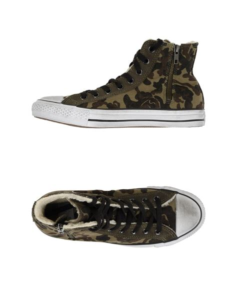 army converse sneakers converse hightops in green for green lyst
