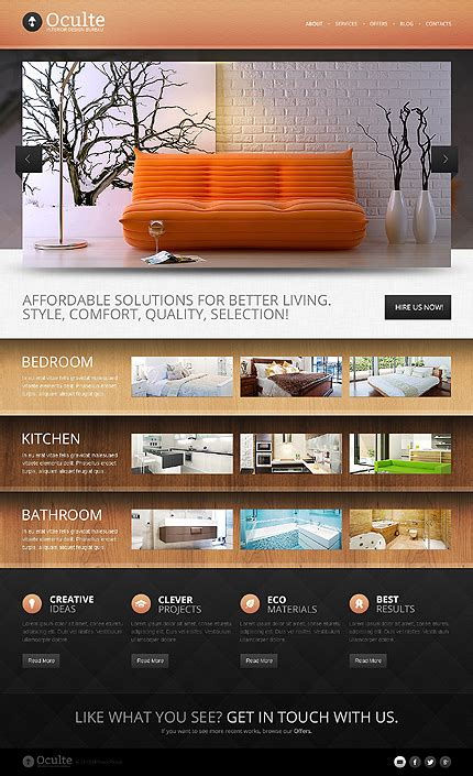 drupal site templates professional drupal website templates for interior design