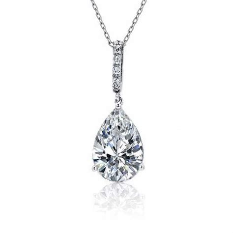 sterling silver teardrop pendant necklace 16 inches