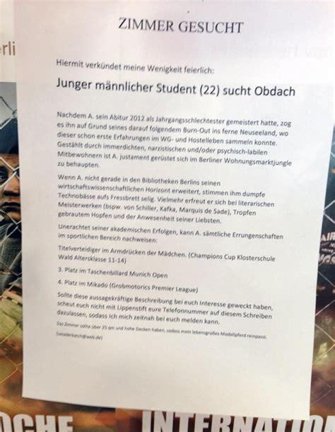 wohnung gesucht anzeige wg zimmer gesucht ein student macht ernst notes of berlin