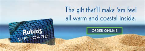 Rubio S Gift Card - coastal inspired fresh mexican food rubio s