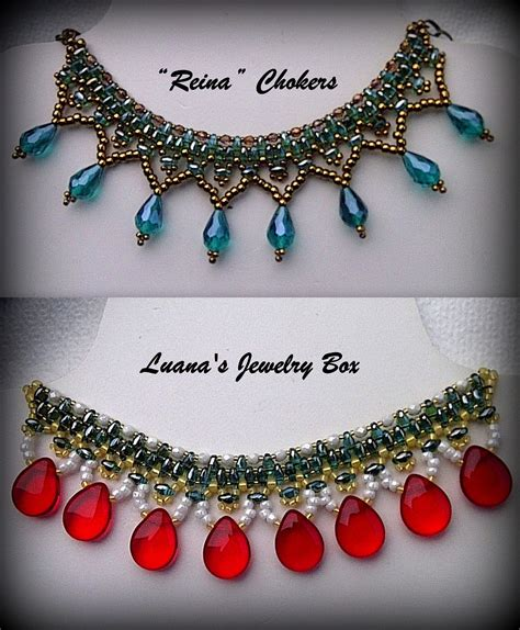 seed bead choker patterns beaded choker with superduo quot reina quot seed bead