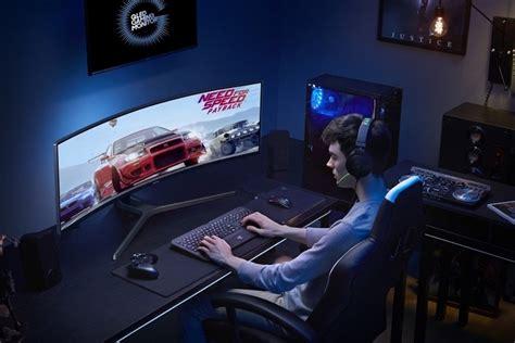 Samsung Qled Gaming samsung chg90 49 inch qled curved gaming monitor