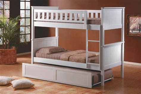 White Bunk Beds With Trundle White Bunk With Trundle Bed