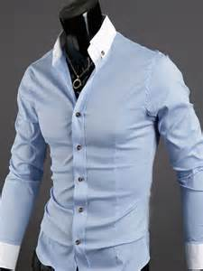 Duvet Cover With Ties Men S Casual Slim Fit Dress Shirt Light Blue Size Xl