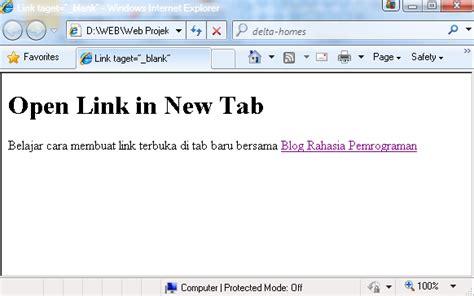 bagaimana cara membuat link di html cara membuat link terbuka di tab baru smart blog