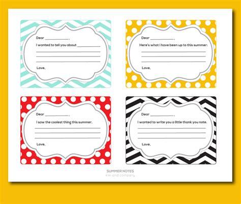 free printable study note cards free summer notes free printable kiki company