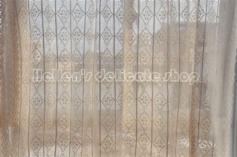 french country lace curtains french country provincial beige cotton thread crochet lace