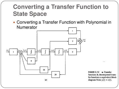 state space to block diagram state space representation of differential equations