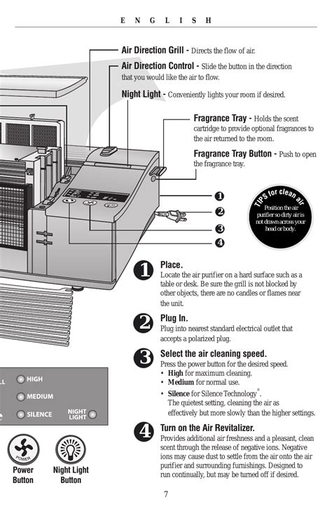 oreck xl рrofessional air purifier airp series user manual page 7 36