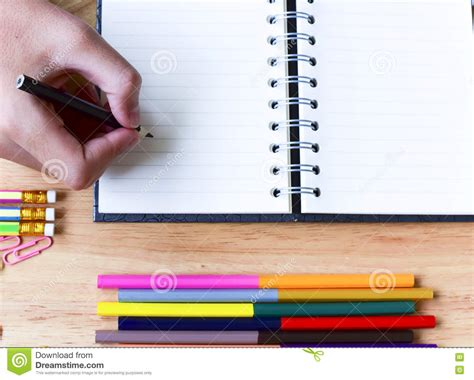 colorful office school supplies royalty free stock image colorful office supplies with calculator and red stapler