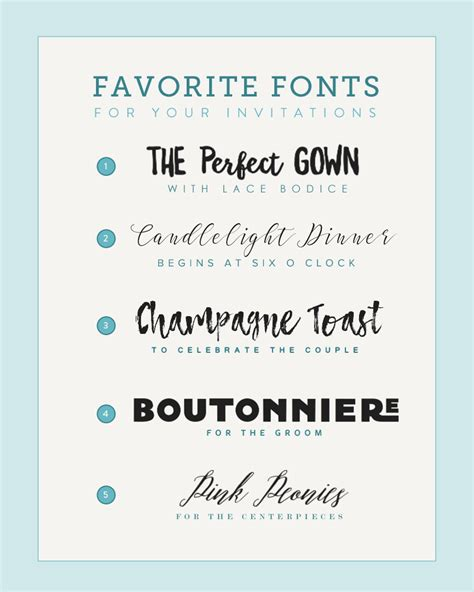 Wedding Invitation Font Pairing by Five Font Pairings For Invitations The Budget Savvy