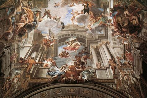 ceiling art pozzo andrea fine arts 17th 18th c the red list