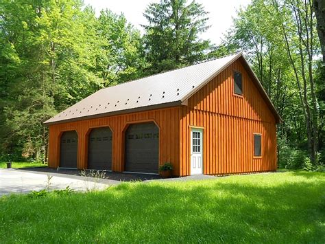 barn garages custom pole building garage precise buildings
