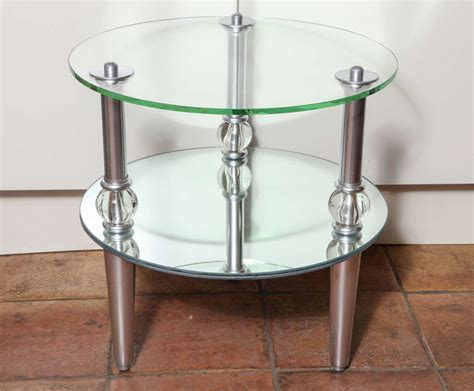 mid century accent table mcm modern jetsons space age cool pair of mid century modern mirrored side tables at 1stdibs
