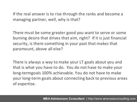 Why You Want To Do Mba In Finance Question by Owning Your Mba Career Goals In 5 Easy Steps